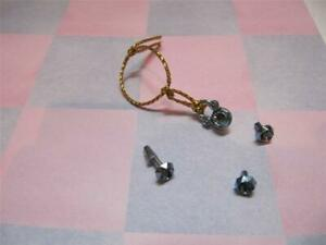 NEW Barbie Doll Matching Jewelry BLUE METALLIC Necklace/Earring/Ring unicef 1989