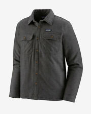 Patagonia Men's Fjord Insulated Button Down Flannel Forge Gray Size Small