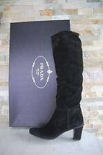 PRADA T 36,5 BOTTES BOOTS Chaussures Shoes Veau Black Noir Neuf Prix Recommandé 695 €