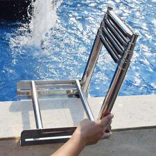 4 Steps Stainless Steel Under Platform Boat Boarding Telescoping Ladder Deck Kit
