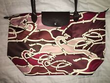 LONGCHAMP LE PLIAGE GALOP BURGUNDY Large Long Handle PARIS ANNIVERSARY Limited