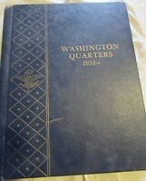 1932 - 1964 - US w/ 63 Washington 90% Silver Quarter Collection In Blue Whitman