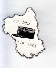 RARE PINS PIN'S .. GENDARMERIE DEPARTEMENT AVEYRON KEPI 1791-1991 ARGENT 3D ~CR