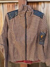 Sheila Moon women's lined wool Norma gene jacket - houndstooth - small