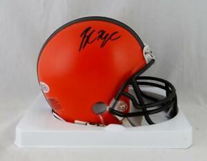 Baker Mayfield Autographed Cleveland Browns Mini Helmet - Beckett W Auth *Black