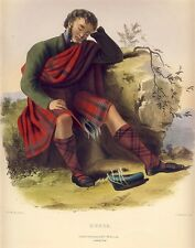 MONRO Original McIAN Hand Colored Litho CLANS of the SCOTTISH HIGHLANDS 1847
