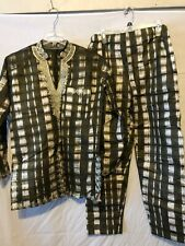 African Ethnic Clothing Men's 2 Piece Pant Suit Long sleeve handmade