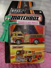 2016 MATCHBOX Best of World '75 MACK CF PUMPER☆Gold Fire Truck ☆mb964☆Series 1