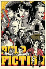 A3 Size - pulp fiction black white movie cinema film POSTER Art #21