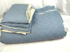 KASENTEX Quilt 3-pc Mini Bedding All Season Lightweight Slate Blue Queen / King