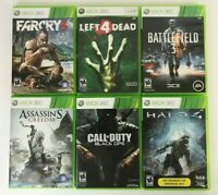Microsoft Xbox 360 Games Lot of 6 - Black Ops, Halo 4, Battlefield 3, Far Cry 3