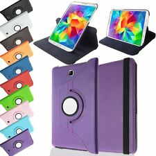 PU LEATHER ROTATING STAND CASE COVER SLEEP/WAKE FOR SAMSUNG GALAXY TAB 4 8.0""