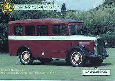 1937 Bedford WS Country Bus Churchill Body J8588 Jersey Nostalgia Road postcard
