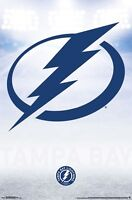 TAMPA BAY LIGHTNING - LOGO POSTER 22x34 - NHL HOCKEY 15828