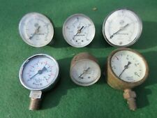 SIX USED PRESSURE GAUGES IN VARIOUS SIZES AND MAKERS ALL UNTESTED