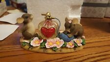 Fitz & Floyd Charming Tails I'M Under Your Spell Love Perfume Bottle Mice 84/102