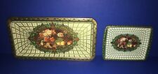 VINTAGE DAHER SQUARE TIN TRAY/12 DISH SET MADE IN ENGLAND