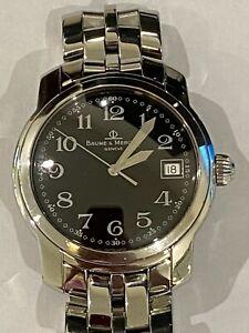 Baume & Mercier Capeland Stainless Steel Black Arabic Dial Men's Watch