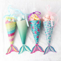 12x Sweet Little Mermaid Gift Boxes Paper Candy Box Mermaid Birthday Party Decor