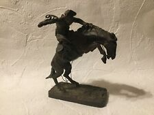 Vtg 1988 Frederick Remington The Bronco Buster Bronze Sculpture Franklin Mint
