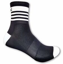 Cycling Socks De Marchi Pro Black/White Made In Italy Small / Medium / Large