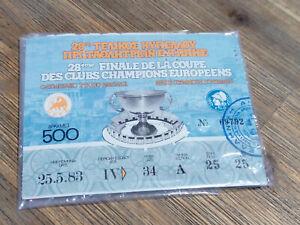 Ticket Biglietto FINALE COPPA CAMPIONI 1983 AMBURGO - JUVENTUS Athens Champions