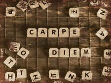 Carpe Diem in scabble Letters Vintage style Metal Sign wall Plaque