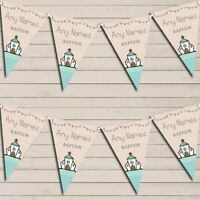 Cute Party Decoration Baptism Christening Bunting Garland Party Banner