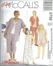 McCalls Sewing Pattern # 2756 Women's Petite Dress Jacket Pants Size 18-20-22-24