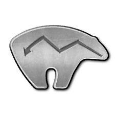 F41-MAG - Native Bear Spirit Animal 3D Chrome Car Emblem Darwin Parody MAGNET