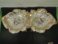 XIX c.Austrian Bohemian Giesshuebl Porcelain Centerpiece bowl basket