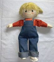 Vintage Gentle Treasures Boy Cloth Doll 1970's  VTG Complete