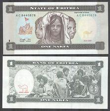 ERITREA - 1 Nakifa 1997 Banknote Note - P 1 P1 (UNC)