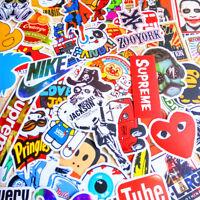 50PCS decals Mix Cool Stickers Vinyl Skateboard Guitar Travel Case sticker  pack