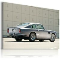 ASTON MARTIN DB6 SILVER Cars Wall Canvas Picture ART AU318 UNFRAMED-ROLLED