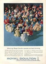 1962 Royal Doulton PRINT AD features: People Dogs Figurines Photo detailed decor