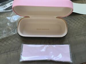 Kate Spade Sunglass Case W/ Cleaning Cloth Pink/Olive
