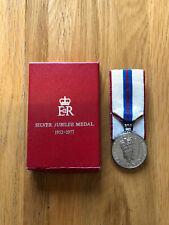 More details for royal mint queen elizabeth ii silver jubilee medal 1952-1977