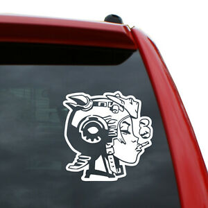 Tank Girl Vinyl Decal Sticker   Color: White   5 inch Tall