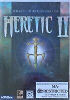 Heretic 2 II PC Game Original 1998 Vintage Raven Software Windows Hexen Retro