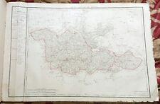 Dépt 57 - Carte Originale de 1790-1818 Gravure sur Cuivre Aquarellée 82 x 56 cm