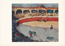 """1955 Vintage Color Art Plate """"BULLFIGHT"""" by PABLO PICASSO offset Lithograph"""