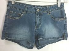 Angels Juniors Jean Shorts Sz 9 Stretch Rhinestones Beads Embroidered Booty 20E