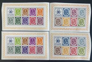 Mint Germany Souvenir Sheet Numeral & Post Horne A136 Sc#670-685x 2 Facsimile