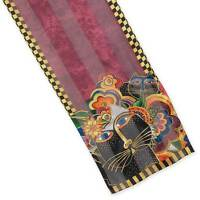 "Laurel Burch - Carlottas Cats Colors of Italy 100% Silk Scarf 11"" x 53"""