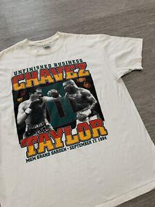 Vintage JULIO CESAR CHAVEZ vs MELDRICK TAYLOR II 9/17/1994 MGM GRAND T-Shirt XL