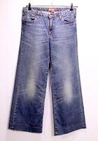 GJ21-91 H&M Wide Damen Jeans blau W30 L32 weites Bein regular waist Marlene-Hose