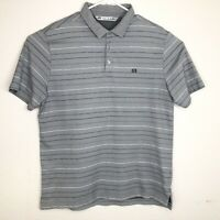 Travis Mathew Golf Polo Shirt Mens Size Large Striped S/S Cotton Polyester