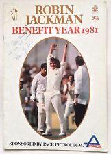 Robin Jackman Signed 1981 Benefit Brochure Surrey Cricket Autograph