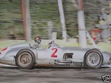 Fangio/Silver Arrows original oil painting